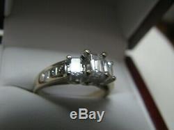 IGI Certified Diamond 1.03 TCW 18k Emerald Setting Blue Nile Ring $6000 VS1