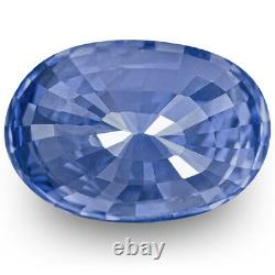 IGI Certified KASHMIR Blue Sapphire 6.00 Cts Natural Untreated Oval