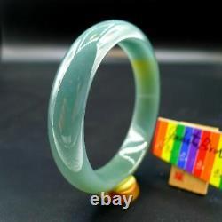 JadeiteBird57.8mm Certified 100% Natural Grade A Jadeite Jade Bangle Bracelet