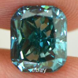 Loose Cushion Cut Diamond Fancy Blue VVS2 Certified Natural Enhanced 2.01 Carat