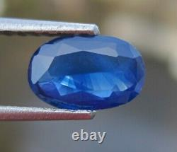 NATURAL BLUE SAPPHIRE LOOSE GEMSTONE UNTREATED CEYLON 1.39cts CERTIFIED OVAL
