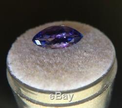 NATURAL Loose Tanzanite 2.66ct Blue Violet Rare Marquise Cut Gem IGI CERTIFIED