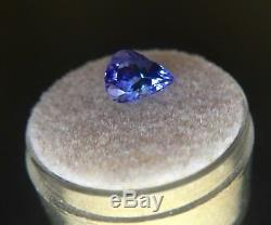 NATURAL Tanzanite 1.70ct Violet Blue Rare Pear Cut IGI CERTIFIED Gem
