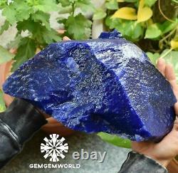 Natural 6.100 Kg Uncut EGL Certified African Blue Sapphire Gemstone Rough