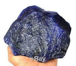 Natural 6154 Ct African Blue Sapphire Museum Size Gemstone Rough Certified U912