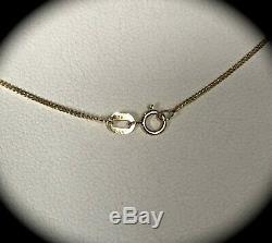 Natural Aquamarine & Dia Pendant & Chain 9k Y Gold CERTIFIED Exquisite Colour