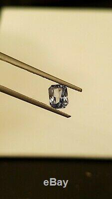Natural Earth mined Blue Sapphire VVS clarity GIA Alumni certified Heated only