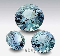 Natural Fine Blue-Green Montana Sapphire Round USA AAA Grade Certified