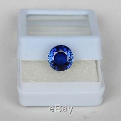 Natural Kashmir Blue Sapphire 4.70 Ct Fine Round Cut Loose Gemstone Certified