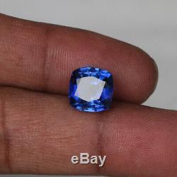 Natural Kashmir Blue Sapphire 5.75 Ct Fine Square Cut Loose Gemstone Certified