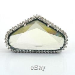 Off White Blue Diamond Pendant- 22.85 Ct, Certified, Amazing Shine & Luster