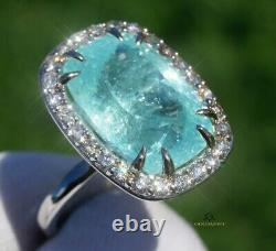 Paraiba Ring Tourmaline Diamond Gold 14K GIA Certified 17.0CTW RETAIL $29,600