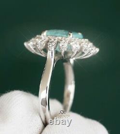 Paraiba Tourmaline Diamond White Ring Natural GIA Certified 4.99CT RETAIL $13700
