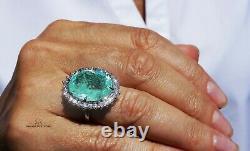 Paraiba Tourmaline Gold Ring Diamond Natural 15.32CT GIA Certified RETAIL $19200