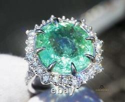 Paraiba Tourmaline Ring Diamond Gold 14K GIA Certified 12.6CTW RETAIL $18,800