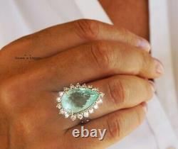 Paraiba Tourmaline Ring Gold Diamond Natural 10.33CT GIA Certified RETAIL $19700