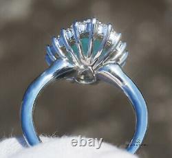 Paraiba Tourmaline Ring Gold Diamond Natural 4.44CTW GIA Certified RETAIL $9700