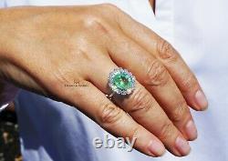 Paraiba Tourmaline Ring Gold Diamond Natural 5.32CTW GIA Certified RETAIL $10600
