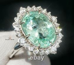 Paraiba Tourmaline Ring Gold Diamond Natural 7.84CTW GIA Certified RETAIL $15300