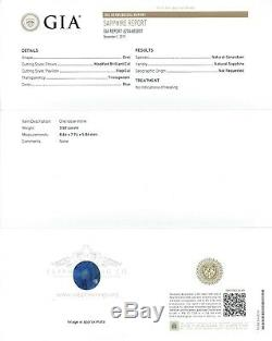 Platinum Blue Sapphire Ring 4.00 tcw GIA Certified Round Cut Untreated Sapphire