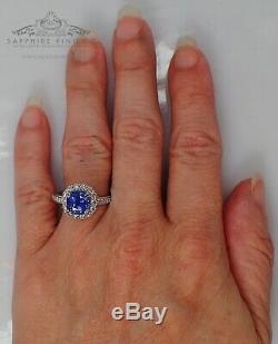 Platinum Sapphire Ring, 3.78 tcw Unheated Color-Change Blue-Purple GIA Certified