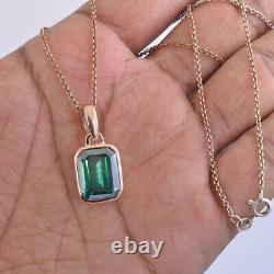 RARE 13.75Ct Certified Natural Earth Mined Blue Diamond Pendant in Rose Gold