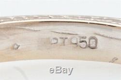 RARE $5000 LAB CERTIFIED No Heat. 58ct Cornflower Blue Sapphire Platinum Ring