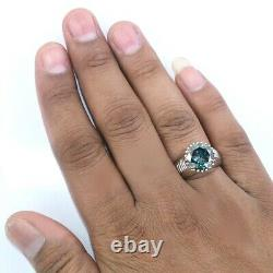 Rare 10.5 Ct Certified Natural Earth Mined Blue Diamond Ring-Great Fire & Bling