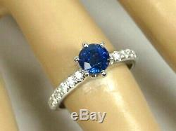 Rare Blue Sapphire Ring 18K white gold Certified GIA Appraised Heirloom $3,489