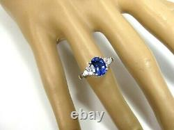 Rare Tanzanite Ring 18K White gold Solitaire GIA Appraised Certified AAAA $8,994