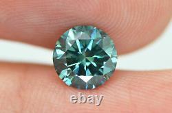Round Shape Diamond Loose Fancy Blue Certified Natural Enhanced VS1 1.17 Carat