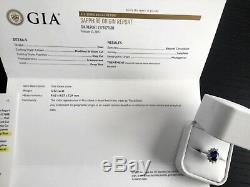 Royal Blue 4.52 carat Madagascar Sapphire and Diamond Ring GIA Certified $42k