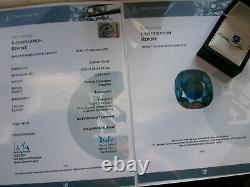 SAPPHIRE & DIAMOND RING + CERTIFIED NATURAL, UNTREATED SAPPHIRE, BURMA origin