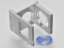 SSEF GIA GRS Certified KASHMIR Blue Sapphire 6.69 Cts Natural Untreated Oval