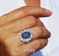 Sapphire Gold Ring Diamond Natural NO HEAT 7.15CTW GIA Certified RETAIL $15600