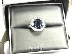 Sapphire Ring Royal Blue 18K white gold Museum GIA Certified Heirloom $28,947