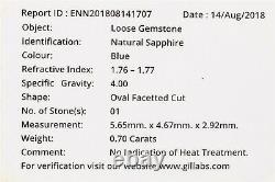 Signed Certified $5000 1.20ct CORNFLOWER BLUE Sapphire Diamond 14k Gold Ring