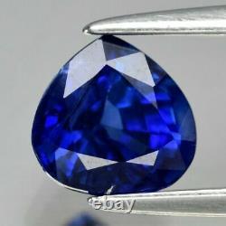 Stunning! GIA Certified VVS 1.04ct 6x5.8mm Pear Natural Blue Sapphire Ceylon