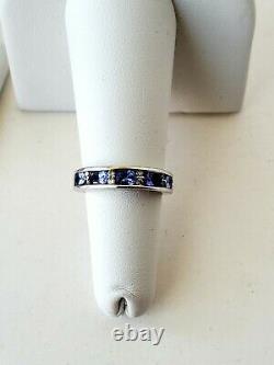 Tanzanite & Diamond Engagement Wedding Ring Set 18k & 14k White Gold certified