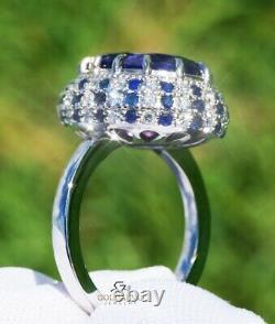 Tanzanite Ring Gold 14K Diamond Sapphires Natural Real GIA Certified 11.09 CTW