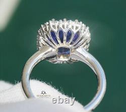Tanzanite Ring Gold Diamond 14k NO HEAT Natual GIA Certified 6.97CT RETAIL$15800