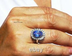 Tanzanite Ring Gold Diamond Natural NO HEAT 6.18CTW GIA Certified RETAIL $13600
