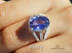 Tanzanite Ring Gold Diamond Natural UNHEATED 7.56CTW GIA Certified RETAIL $12100
