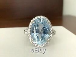 UNHEATED 9.29 carat Sri Lankan Blue Sapphire Diamond Ring GIA Certified $47k