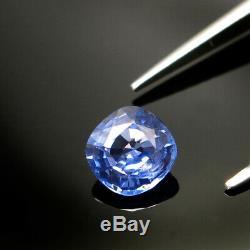 VIOLET BLUE CUSHION CUT CERTIFIED SAPPHIRE 5mm SQUARE NATURAL LOOSE CORNFLOWER