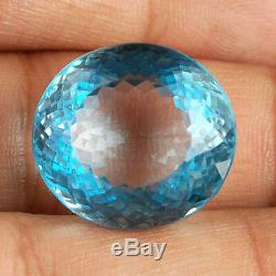 VVS 46.50 Cts Natural Blue Topaz AAA Premium Swiss Color Certified Gemstone