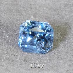VVS 6.40 Cts Unheated Natural Blue Sapphire Sri Lanka AAA Certified Luxury Jewel