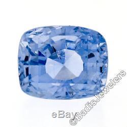 Vintage AGL Certified 14.86ct Natural No Heat Ceylon Cushion Cut Blue Sapphire